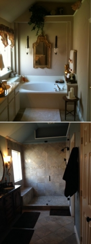 master Bathroom-before and after